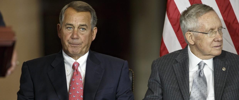 Image: John Boehner, Harry Reid
