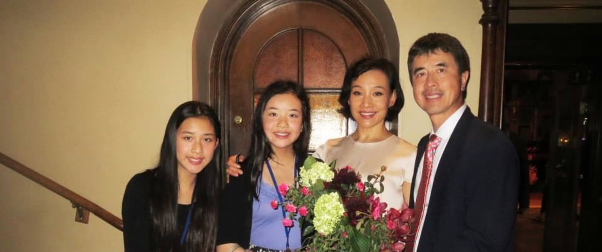 Photo of Joan Chen & her Daughter   Wen Shan Hui