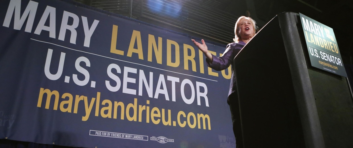 Image: U.S. Sen. Landrieu speaks during a campaign event in New Orleans, Louisiana