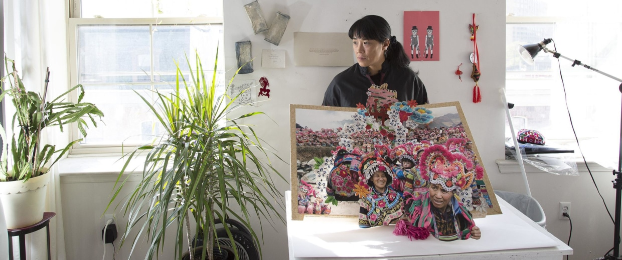 Image: Colette Fu has spent decades researching and documenting the lives of China's ethnic minorities, publishing in the form of beautiful, intricate, hand-cut paper pop-up books.