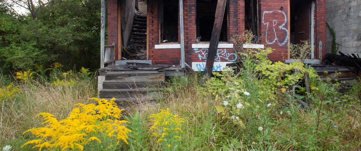 Image: An abandoned home in Detroit.