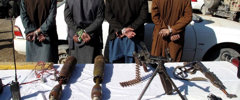 Image: Taliban militants under arrest