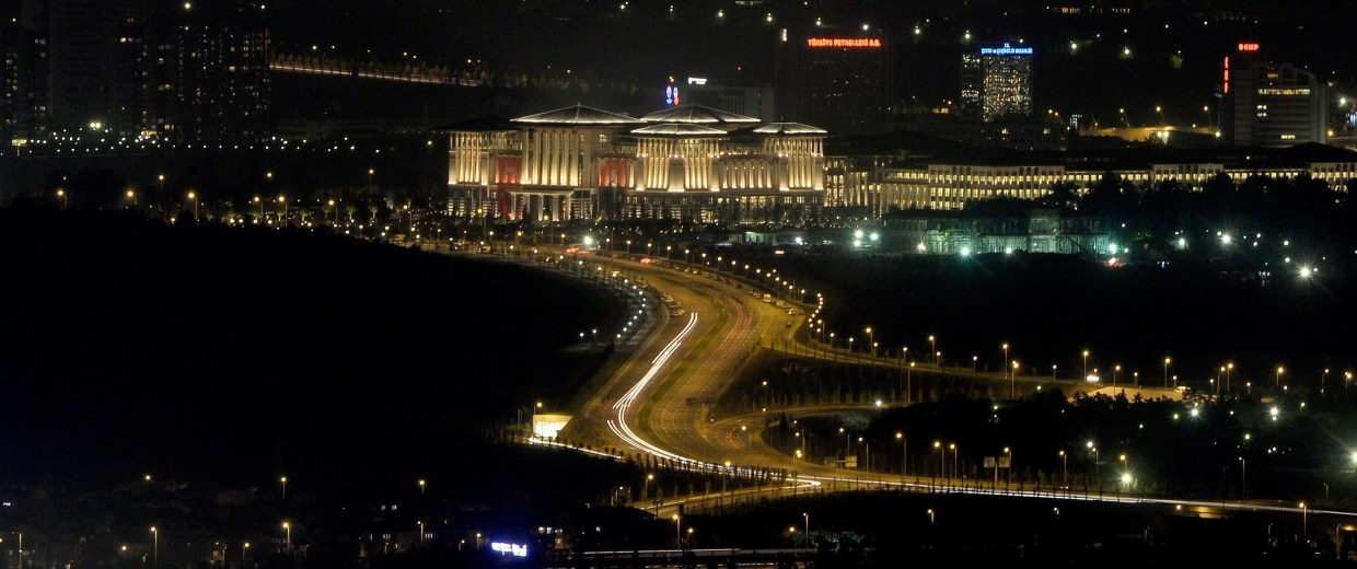Image: Turkey's new Presidential Palace at night