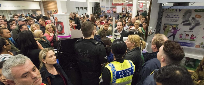 Image: Black Friday sales at Tesco, Cardiff