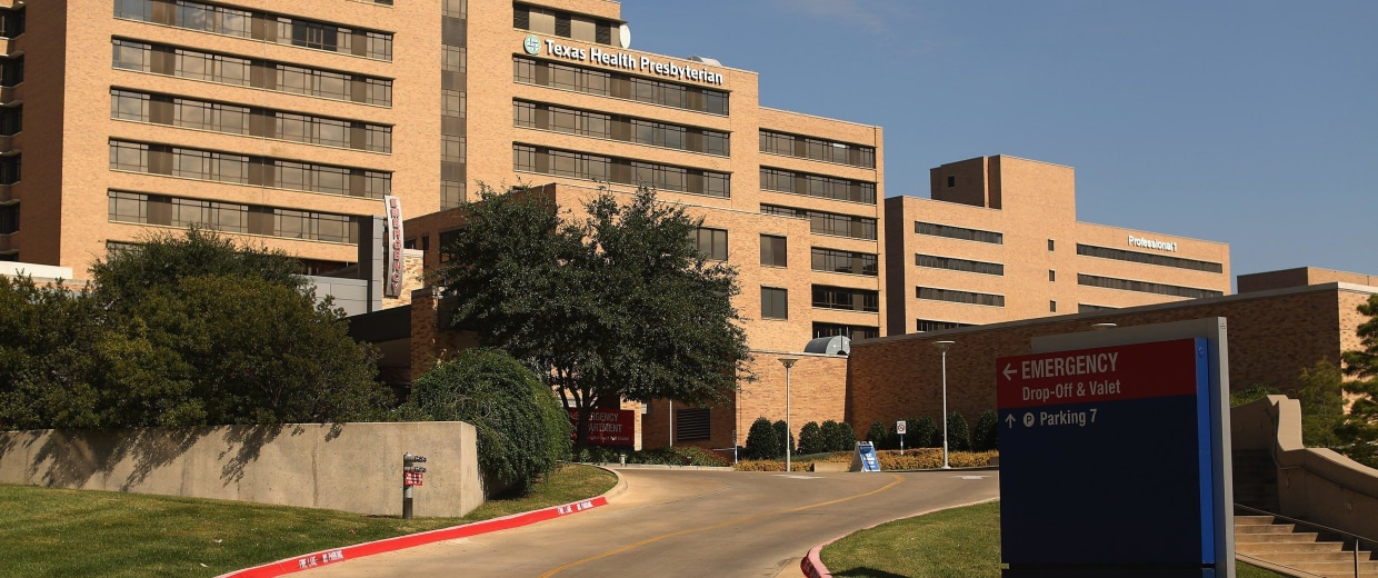 Image: The exterior of Texas Health Presbyterian Hospital