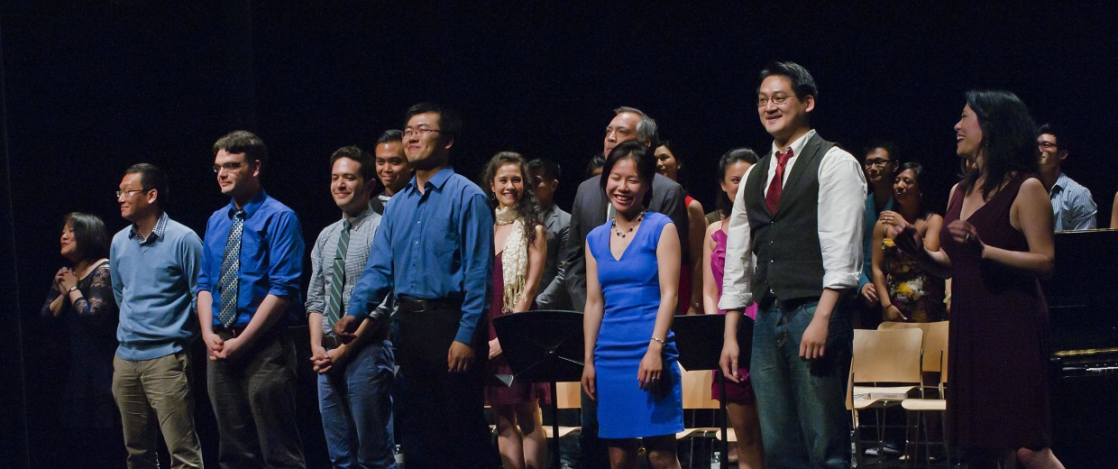 Curtain call from the 2013 debut performance featuring writers and singers of the Asian American Composers & Lyricists Pro