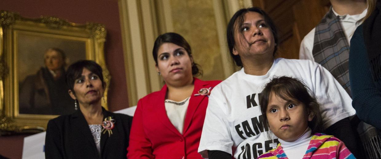 Image: Democratic Senators Speak On President's Executive Order On Immigration