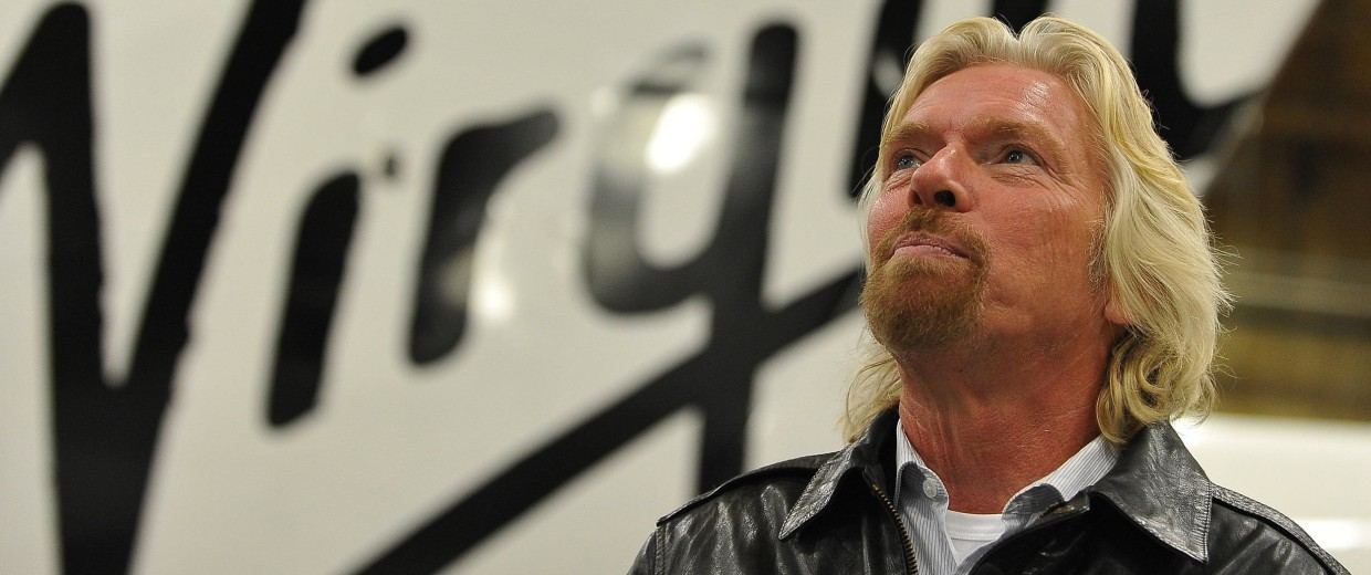 Image: Sir Richard Branson before the official unveiling of Virgin Galactic's SpaceShipTwo