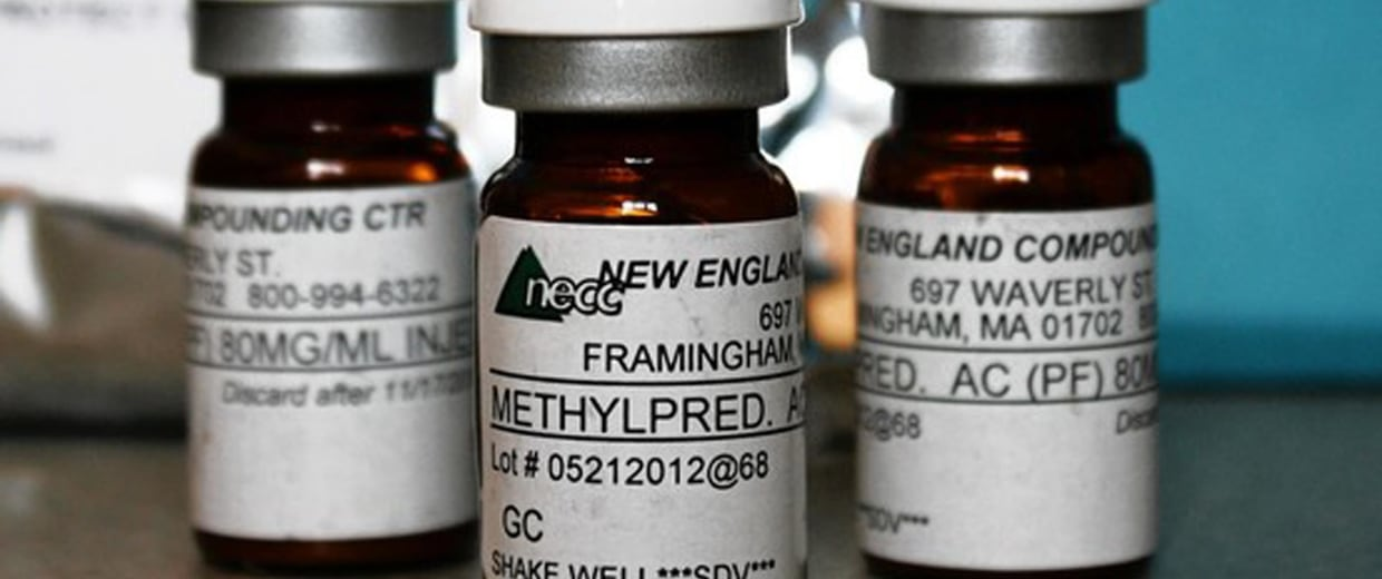 Image: Vials of the steroid distributed by New England Compounding Center (NECC) - implicated in a meningitis outbreak