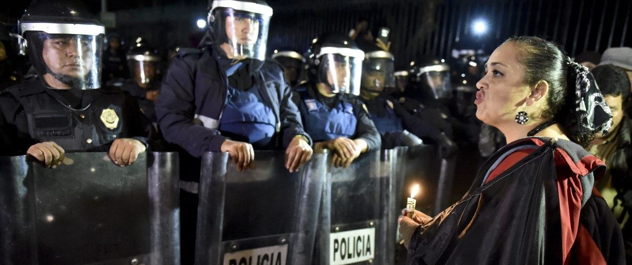 Image: MEXICO-CRIME-STUDENTS-PROTEST