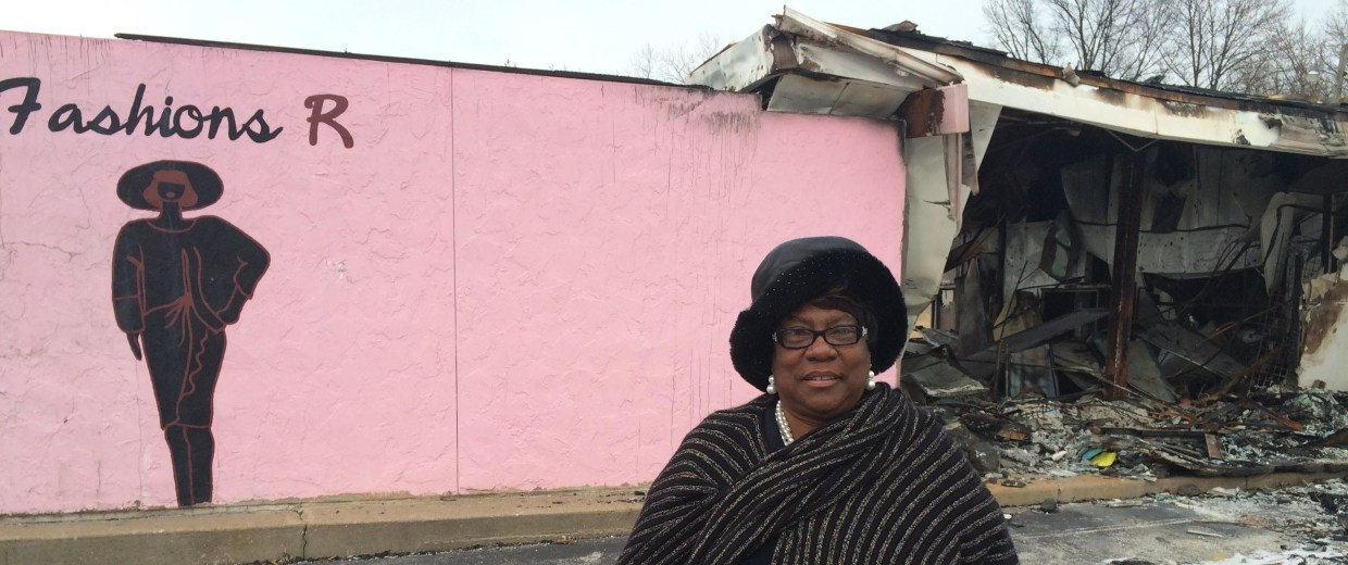 Nearly all of Juanita Morris's business, Fashions R Boutique was, burned to the ground in Ferguson, Missouri. She's rebuilding with the help of crowdfunding.
