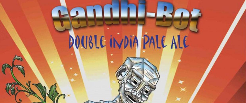 Image: New England Brewing Gandhi-Bot beer label