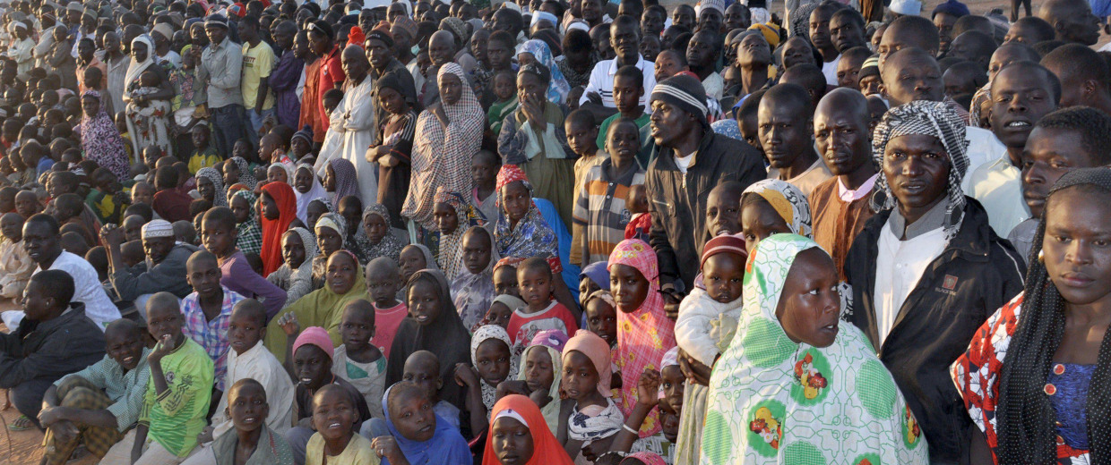 Image: Displaced people from Baga