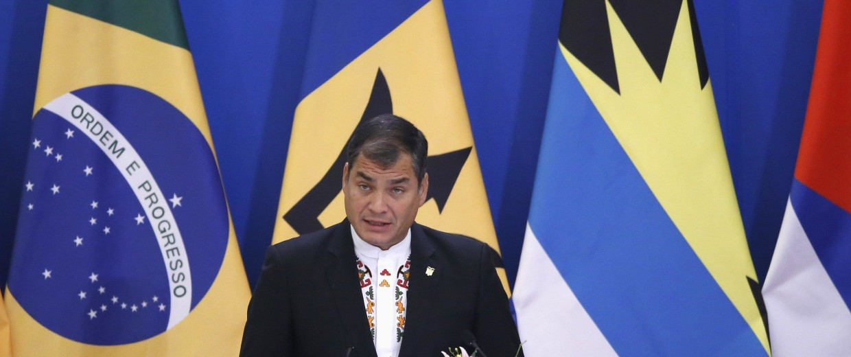 Image: Ecuador's President Rafael Correa speaks during the opening ceremony of China-CELAC in Beijing
