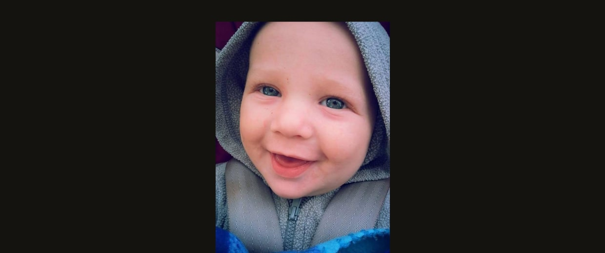 Image: Nine-month-old Corbin Wiederholt, who was accidentally shot in the head by his 5-year-old brother