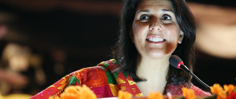 Image: Nikki Haley, Governor of South Carolina in Amritsar.