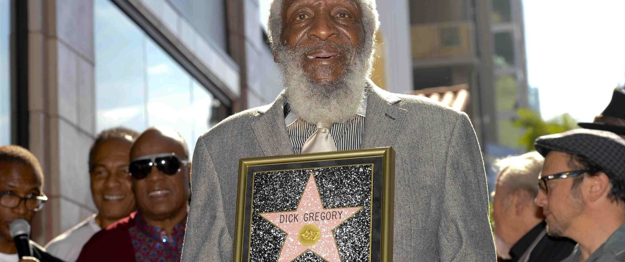 Image: Comedian Dick Gregory receives his star on Star on the Hollywood Walk of Fame in Los Angeles