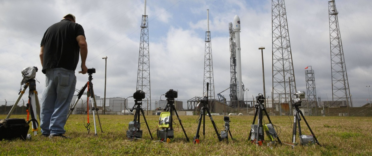Image: Setting up for SpaceX launch