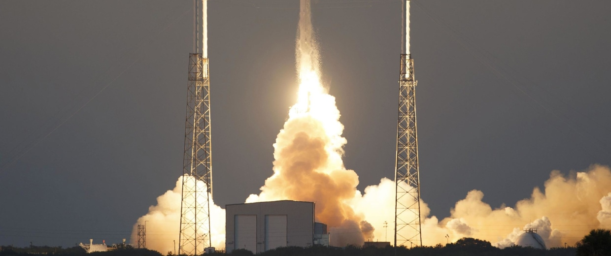 Image: The unmanned Falcon 9 rocket, launched by SpaceX and carrying the Deep Space Climate Observatory Satellite, lifts off at the Cape Canaveral Air Force Station