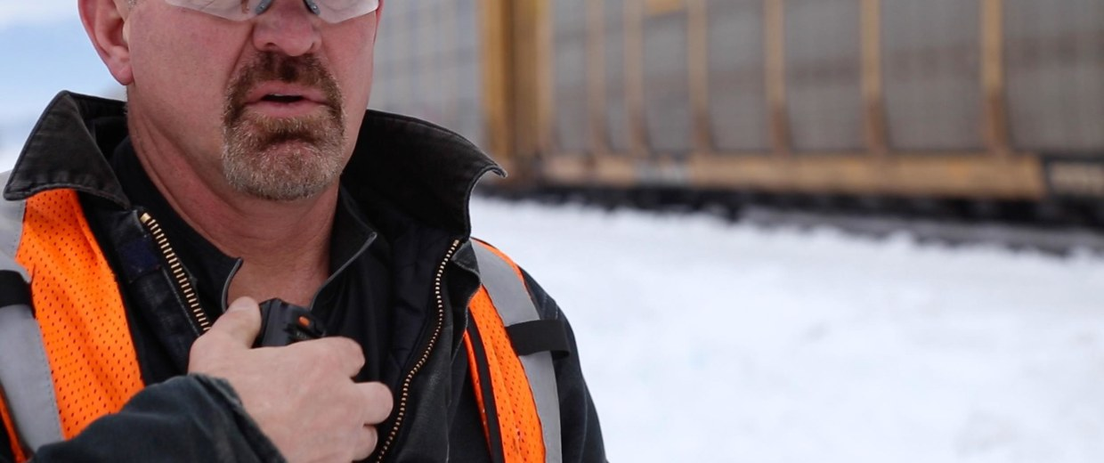 Image: A series of fiery wrecks has sparked a national battle over rail safety. Workers are caught in the middle, including a group trying to change their lives at a BNSF conductor school in Whitefish, Montana. Scott Murray is the course instructor.