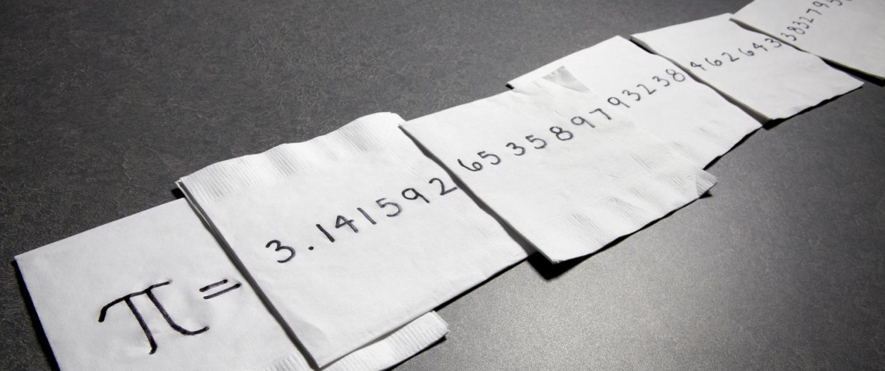 Image: Pi on napkins