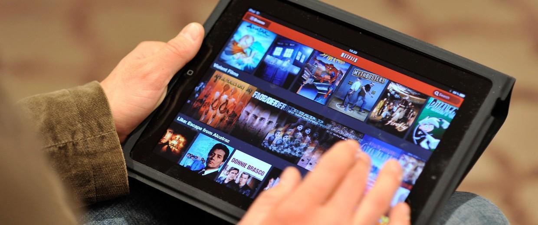 Image: Watching Netfix on iPad