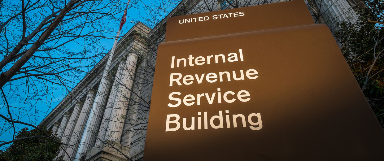 Image: Headquarters of the Internal Revenue Service (IRS) in Washington