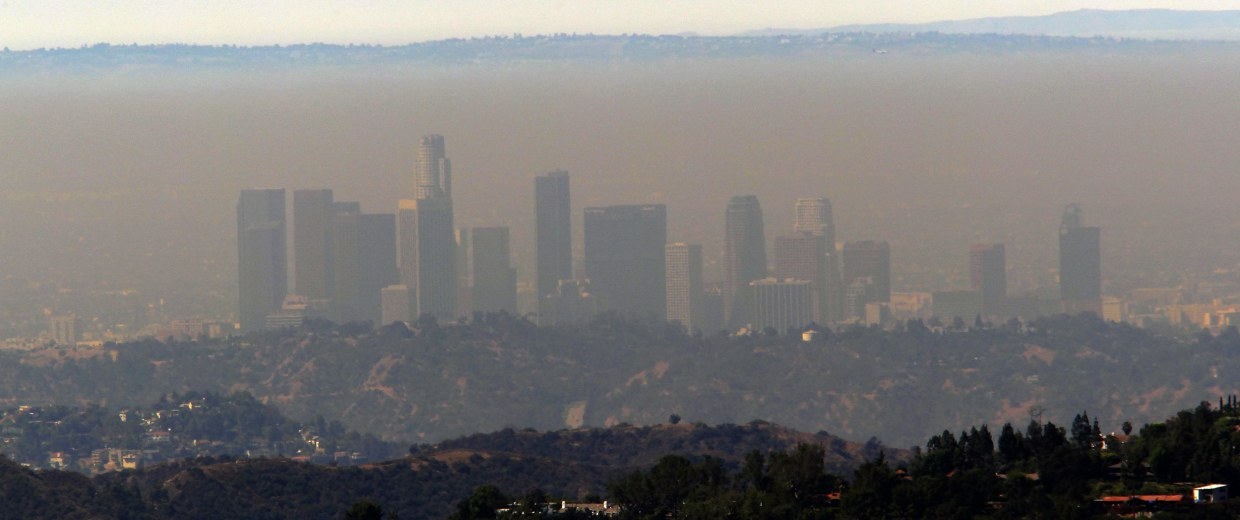 Cough cough climate change may worsen air pollution nbc news image smog in los angeles sciox Gallery