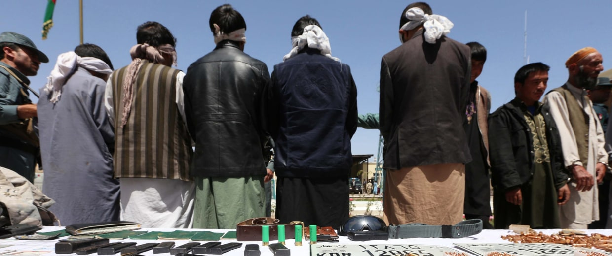Image: 18 suspected criminals and militants arrested in Herat police operation