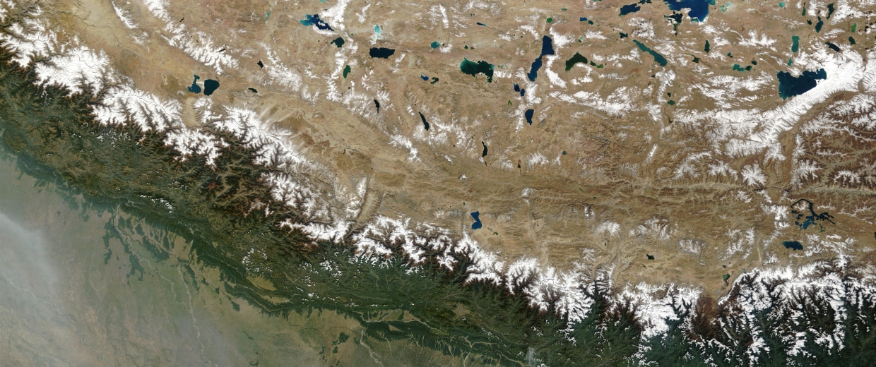Image: Himalayas from space