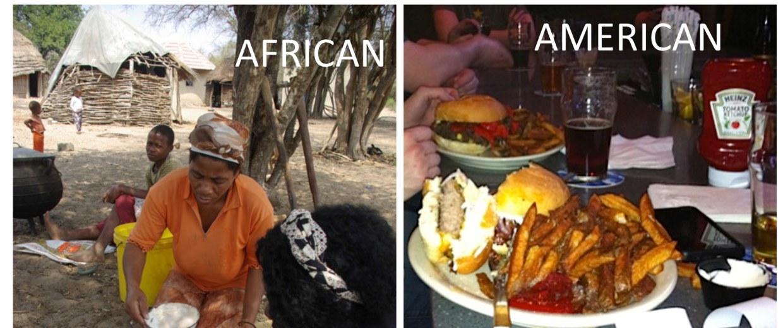 Image: Rural South Africans in KwaZulu-Natal diet and American diet