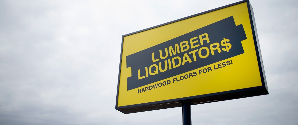 Image: Lumber Liquidators Sign