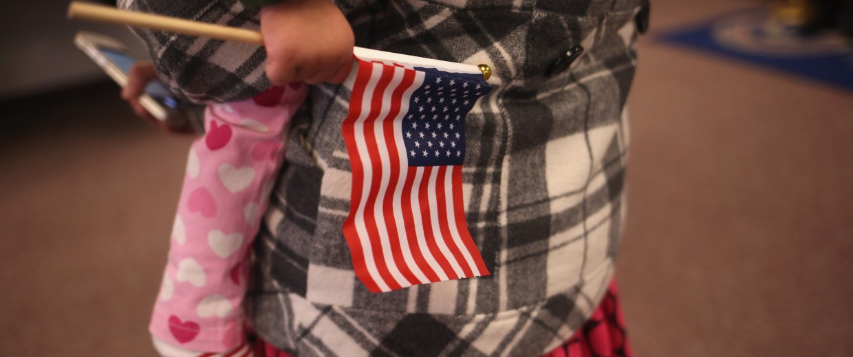 Image: New US Citizens Naturalized At NJ Ceremony