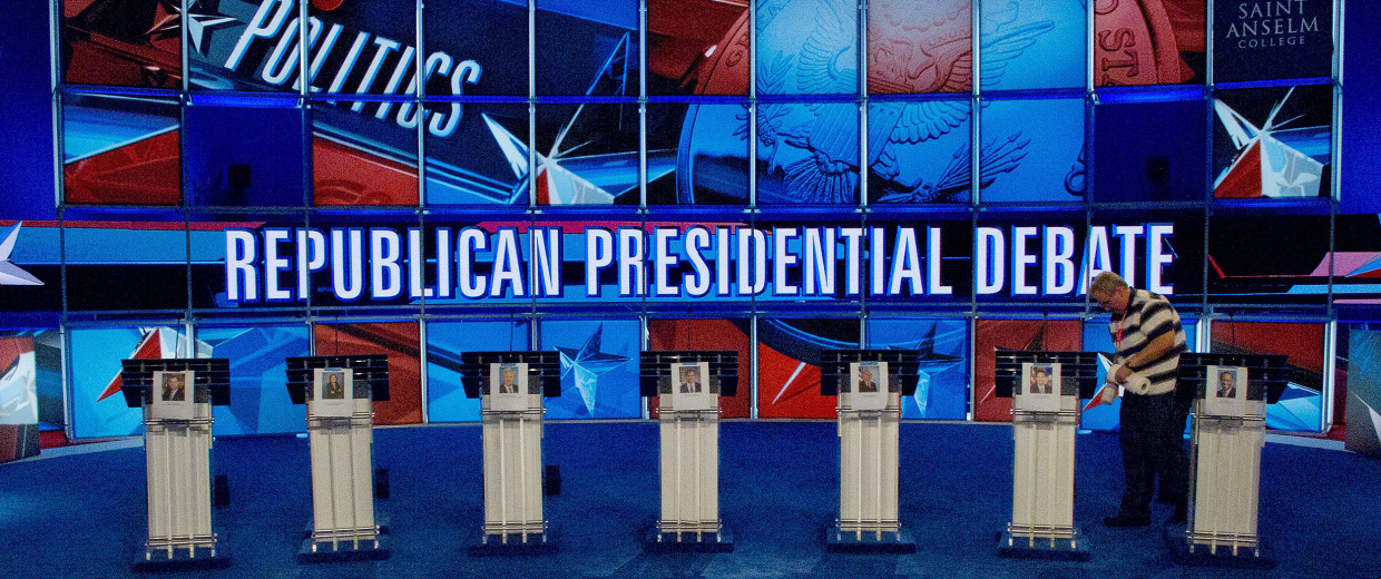 Image: Republican Debate at St Anselm College in New Hampshire