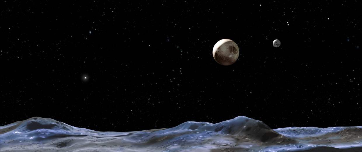 Image: Pluto and moons