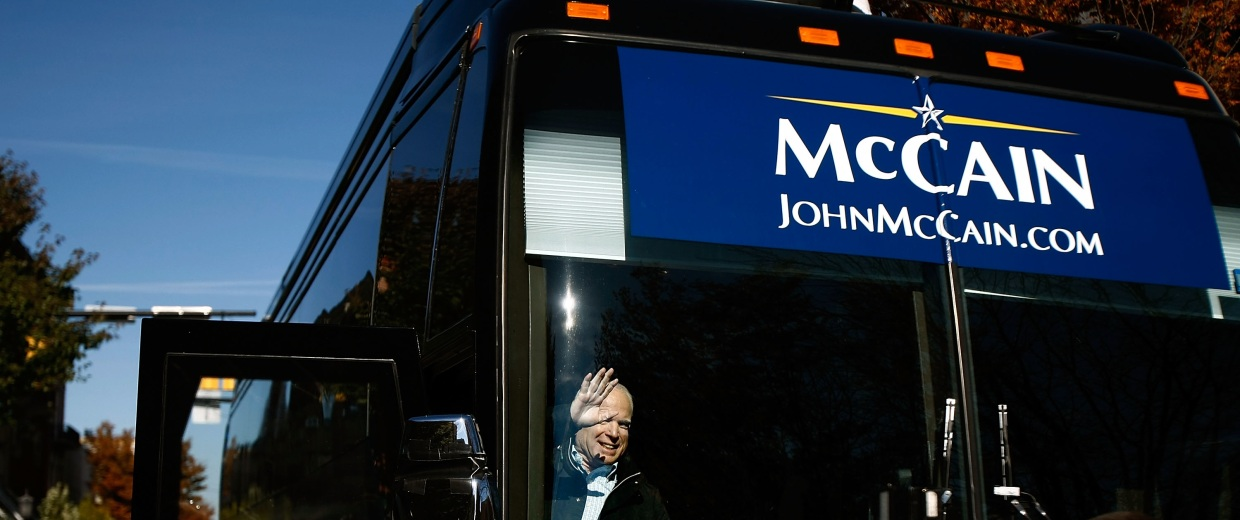 Image: McCain Campaigns On Final Week Before Presidential Election