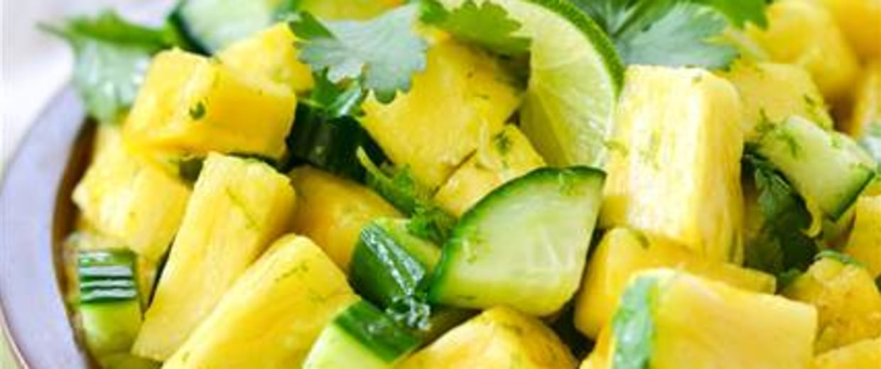 IMAGE: Pineapple cucumber salad