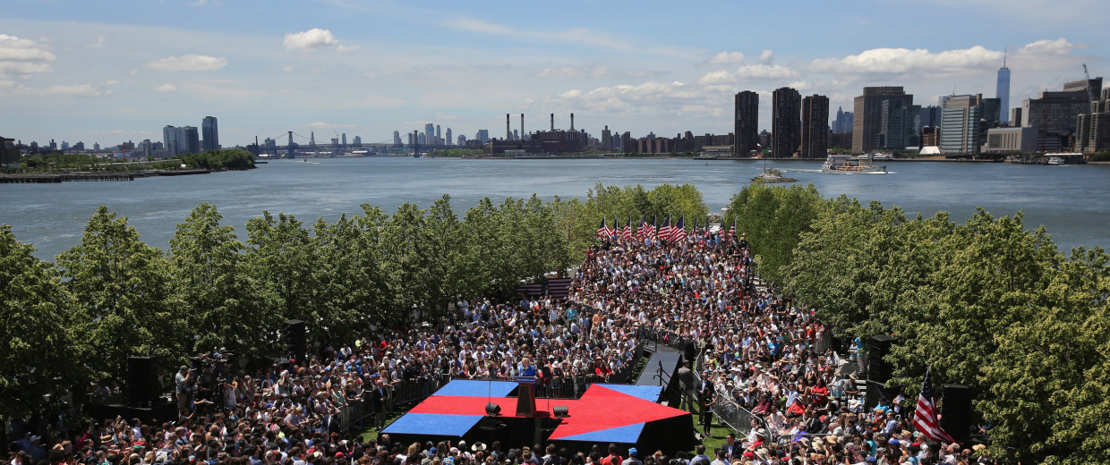 Image: BESTPIX - Hillary Clinton Holds Campaign Kick-Off Rally In NYC