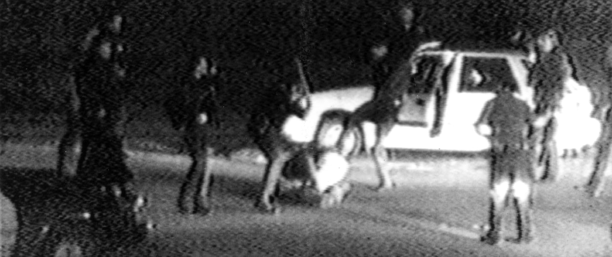 Image: Frame from Rodney King video taken on March 31, 1991
