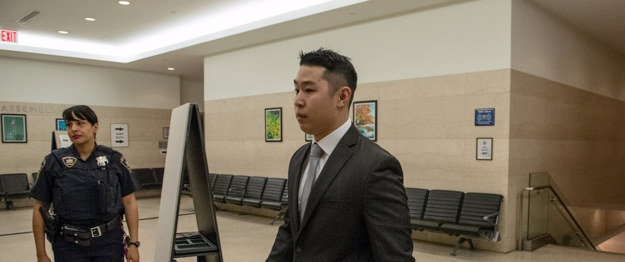Image: New York City Police officer (NYPD) Peter Liang arrives at Brooklyn Supreme Court