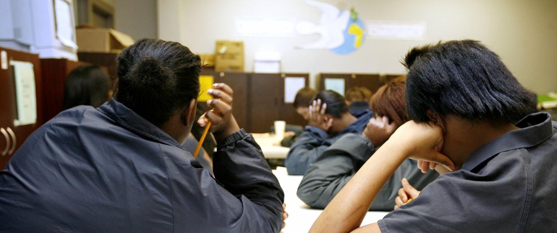 Image: female girl detainees