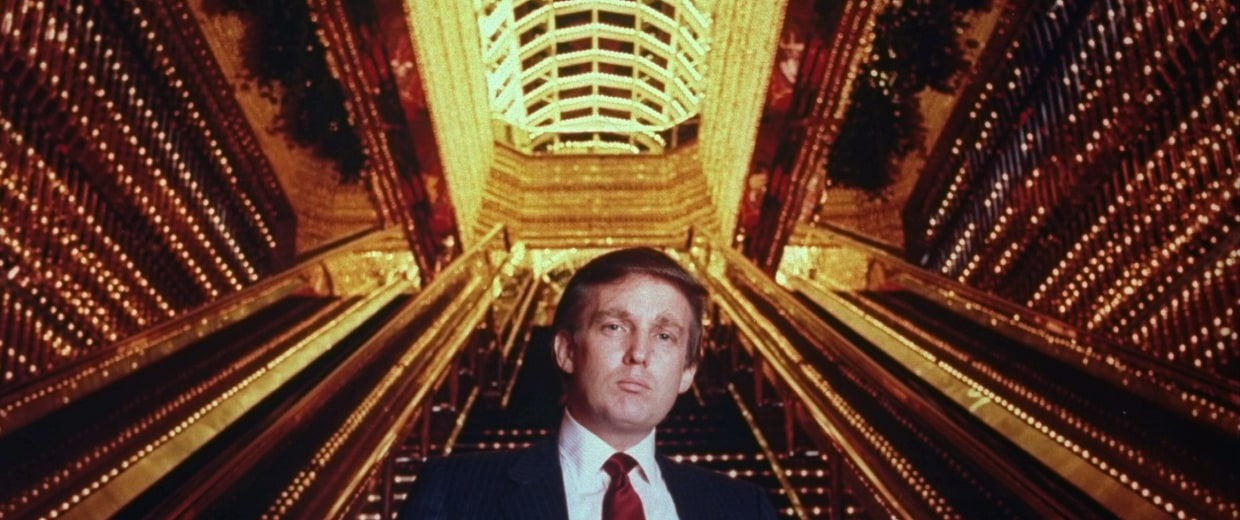 Real estate tycoon Donald Trump poised in Trump To