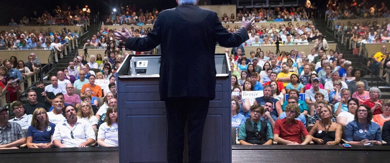 Image: *** BESTPIX *** Bernie Sanders Holds Town Hall Meeting In Iowa