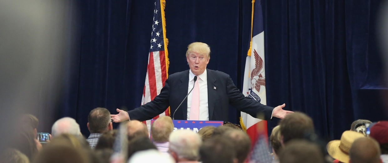 Image: Donald Trump Holds Campaign Rally And Picnic In Iowa