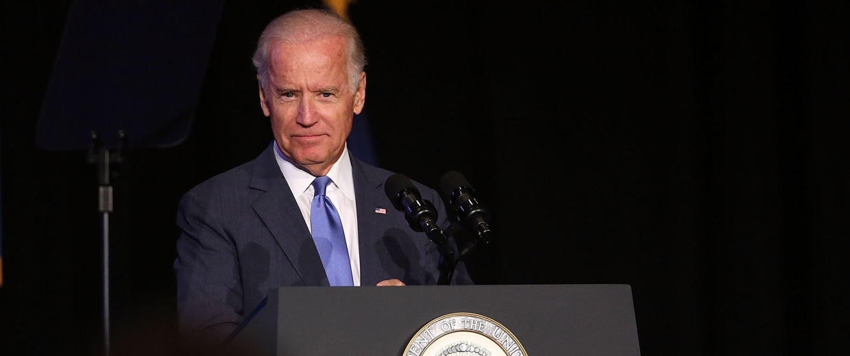 Image: Joe Biden And Andrew Cuomo Make Major Infrastructure Announcement In NYC