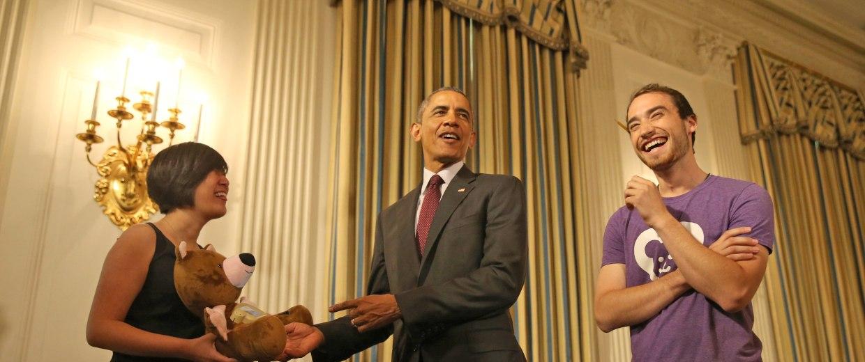 Image: Barack Obama, Aaron Horowitz, Hannah Chung