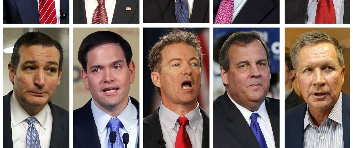 Image: File photo combo of Republican presidential candidates