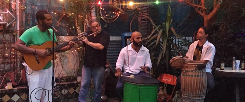 Image: Blake Amos and his band play at Casa Borrega