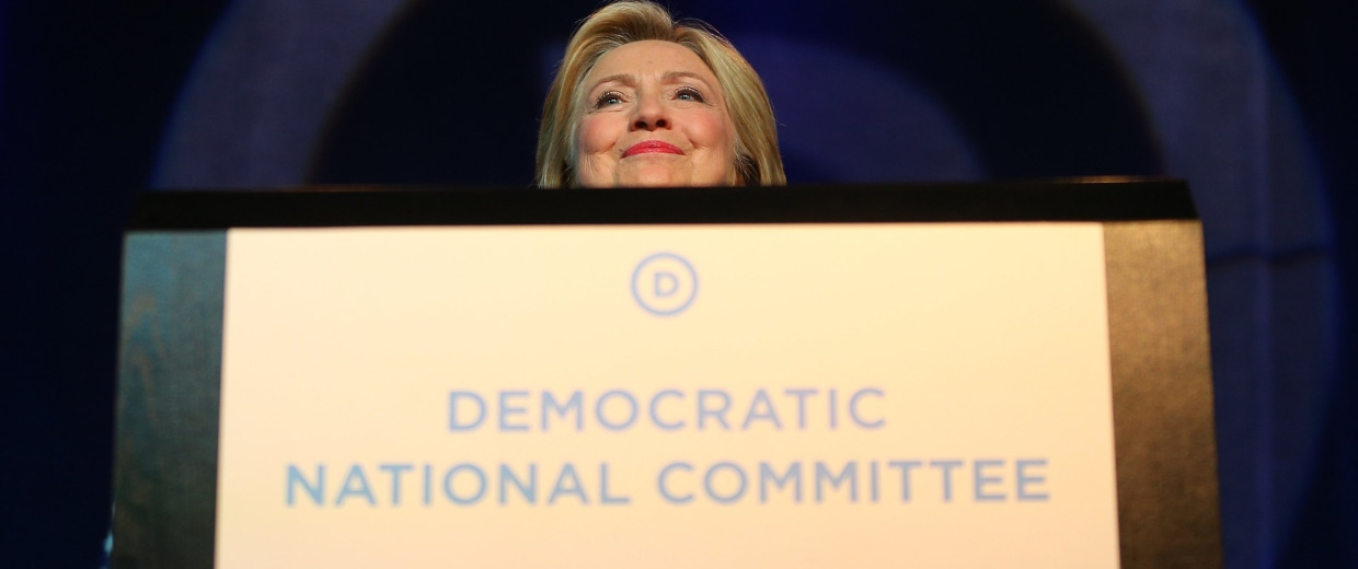 Image: Democratic Presidential Candidates Speak At DNC Summer Meeting In Minneapolis