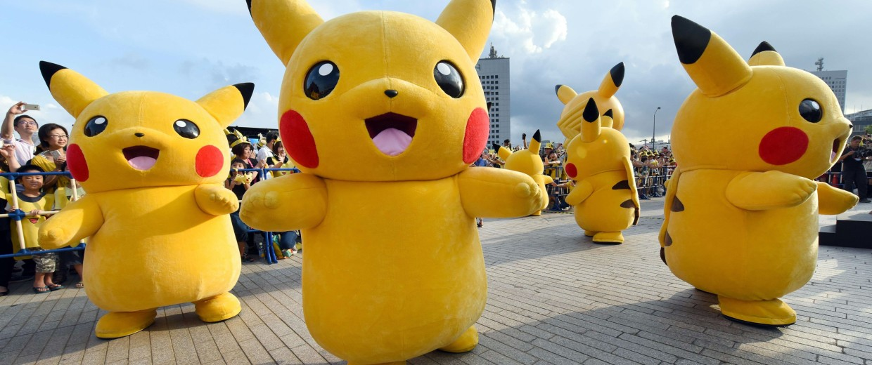 Image: Pikachu, the famous character of Nintendo's videogame software Pokemon